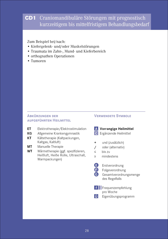 Anwendungsbeispiel für zahnmedizinische Verordnungen nach Heilmittel ...